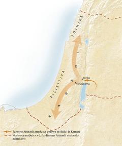 Mapu la dziko la Kanani[Mapu patsamba11]
