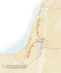 Mápa de Canaán[Mápa oĩva páhina 11-pe]