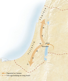 Mapa sang duta sang Canaan[Mapa sa pahina11]
