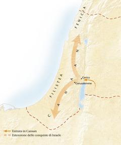 Mappa del paese di Canaan[Cartina a pagina11]