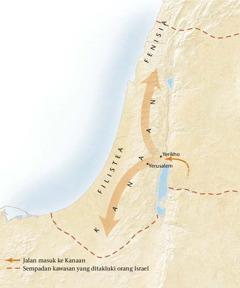 Peta negeri Kanaan[Peta pada muka surat11]
