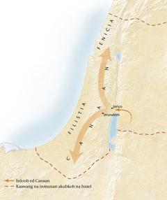 Mapa na dalin na Canaan[Mapa ed pahina11]