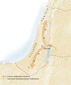 Canaan hallp'aq mapan[11paginapi mapa]