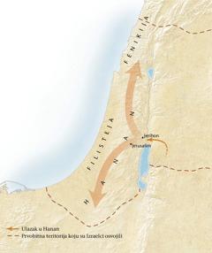 Mapa Hananske zemlje[Mapa na 11.strani]