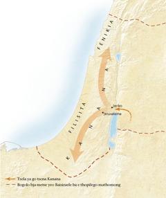 Map of the land of Canaan[Mmapa go letlakala11]