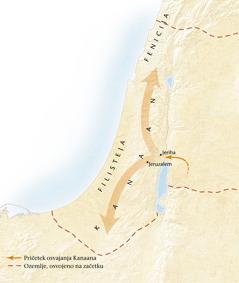 Zemljevid kanaanske dežele[Zemljevid na strani11]