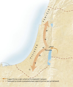 Jun mapa ja b'a slujmalil Canaán[Mapa ja b'a slam 11]