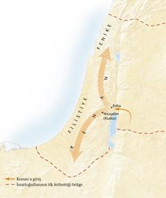 Kenan topraklarının haritası[Sayfa 11'deki harita]