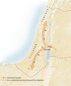 Smapail slumal Canaán[Mapa ta pajina 11]