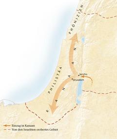 Karte vom Land Kanaan