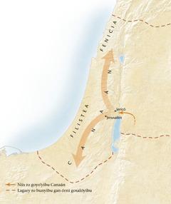 Mapa xtuny xalioo Canaán[Mapa xtuny página 11]