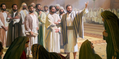 The apostles speak before the Sanhedrin