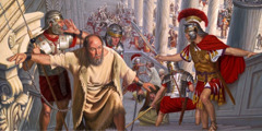 Roman soldiers help Paul escape an angry mob