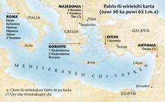 Mapa chew ñi wirintukun Pablo ñi pu karta