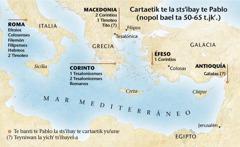 Mapa te ya xchiknaj ta ilel te banti te Pablo la stsibay cartaetik