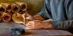圣经的执笔者正在写信