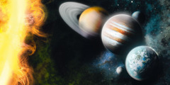 كواكب تدور حول الشمس