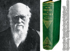 Charles Darwin en zijn boek Origin of Species
