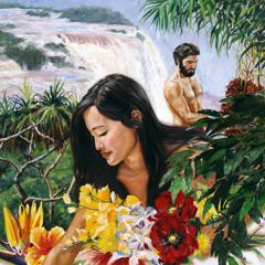 A-đam và Ê-va trong vườn Ê-đen