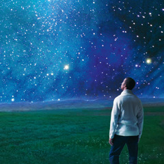 A man looks at the starry heavens