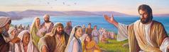 يسوع يعلِّم جمعا من الناس