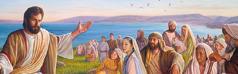 예수께서 많은 사람을 가르치시는 모습