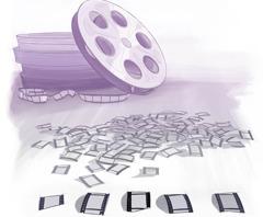 Një bobinë filmi dhe disa kuadro të filmit