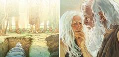 آدم وحواء يكبران في العمر ويموتان