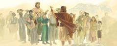 Noah warnt die Menschen vor der Sintflut, aber sie lachen ihn aus