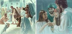 يسوع يقيم بنتا من الموت ويشفي رجلا مريضا