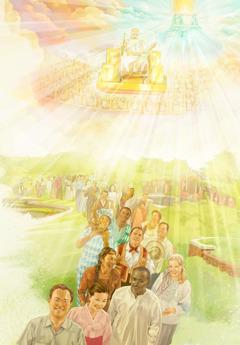 Jesús sob ló trono xtuny Gobierno xtuny Dios né dada cú cayony mandarybu buñ ló Gudxlio móz