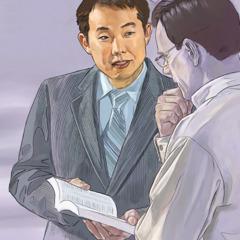 エホバの証人が1人の男性に王国の良い知らせを伝えている。