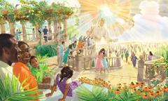 مردم در بهشت به رستاخیزیافتگان خوشامد میگویند