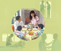 1人のクリスチャンがエホバの助けに頼りつつ,自分と家族を支え,良いことを行なっている