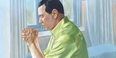 اِک آدمی دُعا کر رہیا اے۔