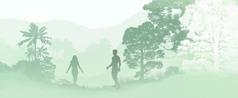 آدم وحواء في جنة عدن