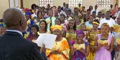A meeting of Jehovah's Witnesses in Sierra Leone