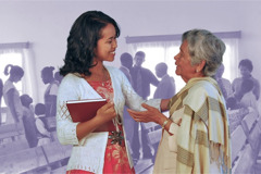 Eine Gruppe von Zeugen Jehovas in der Freizeit