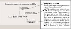 Exemplo de um texto da Bíblia
