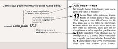 Exemplo de uma referência bíblica