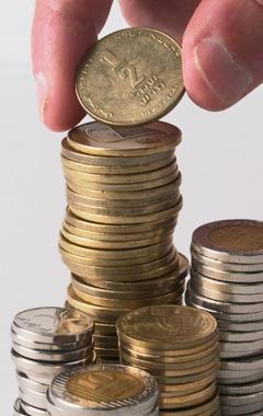 En bunke mønter