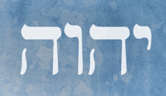 God's name, Jehovah, represented by four Hebrew letters