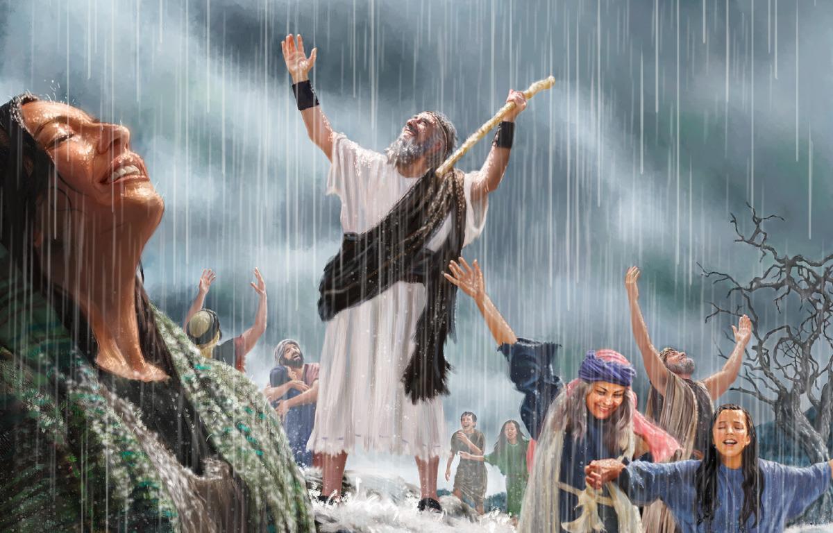O Profeta Elias Observou E Esperou Com Oracoes Verdadeira Fe