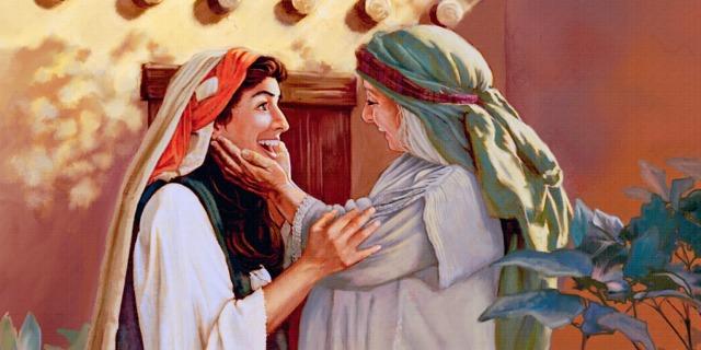 Maria visitando Elisabete