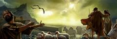 Folk uden for arken latterliggør Noa og hans familie