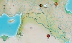 বিশ্বস্ত হেবল, নোহ, অব্রামের (অব্রাহামের) জীবনের সঙ্গে সম্পর্কযুক্ত বাইবেলের সময়ের বিভিন্ন স্থানের মানচিত্র
