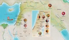 Map ebe ndị a kọrọ akụkọ ha na Baịbụl, bụ́ ebe Hana, Samuel, Abigel, Ịlaịja, Meri na Josef, Jizọs, Mata, na Pita biri ma ọ bụ gaa