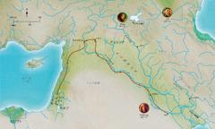 聖書中の忠実な人々と関係のある土地の地図(アベル,ノア,アブラハム)