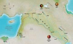 ನಂಬಿಗಸ್ತ ಹೇಬೆಲ, ನೋಹ, ಅಬ್ರಾಮ (ಅಬ್ರಹಾಮ) ಇವರ ಜೀವನಕ್ಕೆ ಸಂಬಂಧಿಸಿದ ಬೈಬಲ್ ದೇಶಗಳ ಭೂಪಟ