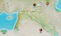 Абел Ноа Абрахам (Абрам) нарын үнэнч хүмүүсийн амьдарч байсан нутгийн газрын зураг